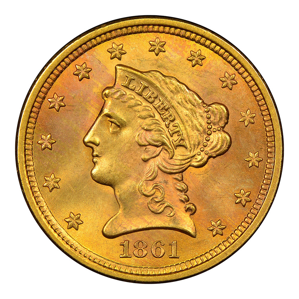 $2.5 Gold Liberty Raw Coins