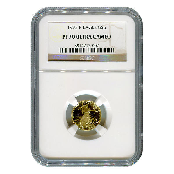 Tenth Ounce Certified Proof Gold Eagles