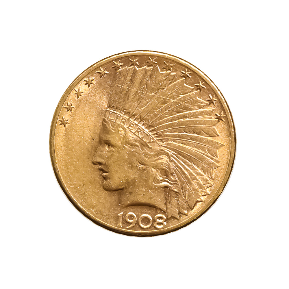 $10 Indian Gold Raw Coins