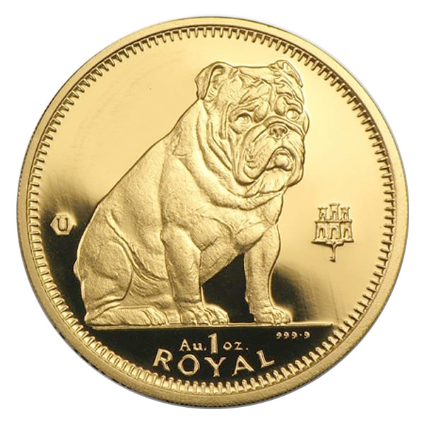 Gibraltar Gold Dogs One Ounce
