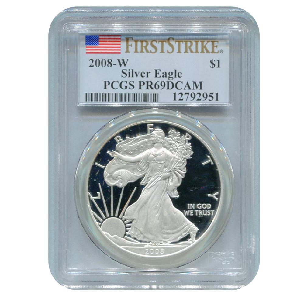 PCGS PR69 Proof Silver Eagles