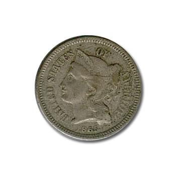 Three Cent Nickels VF