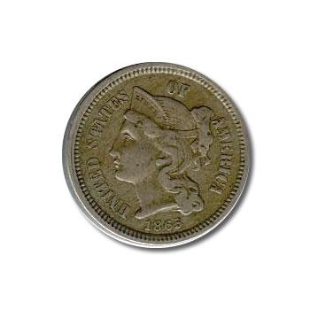 Three Cent Nickels VG-Fine