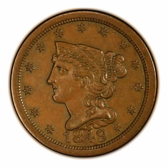 Half Cents Almost Uncirculated