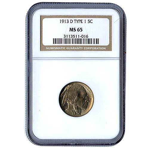 Certified Buffalo Nickels