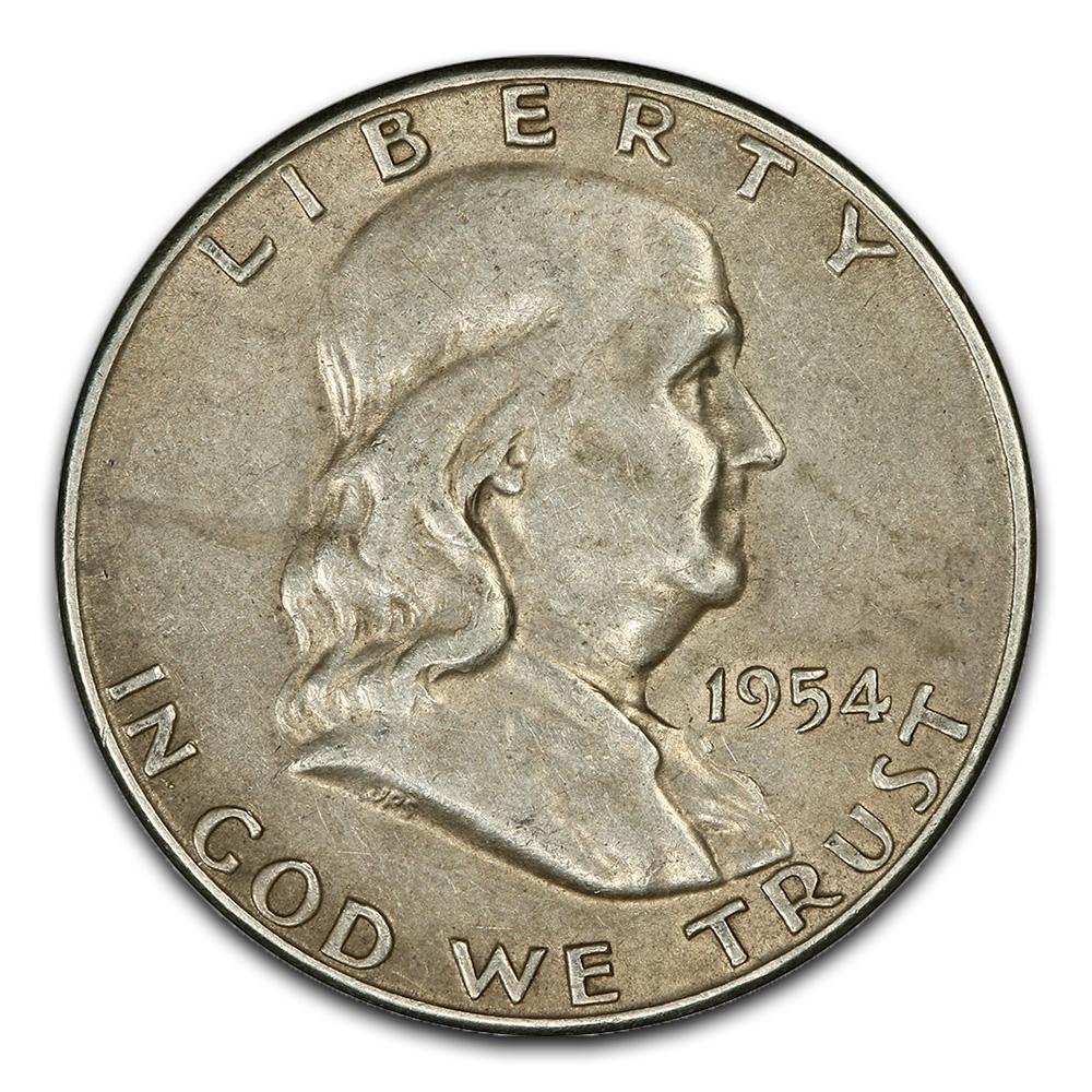 Circulated Franklin Half Dollars