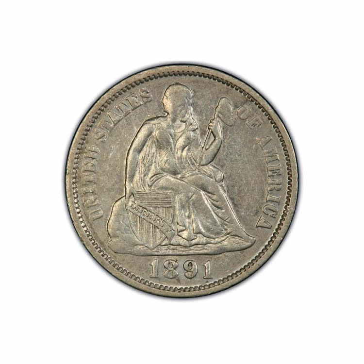 Seated Dimes Almost Uncirculated