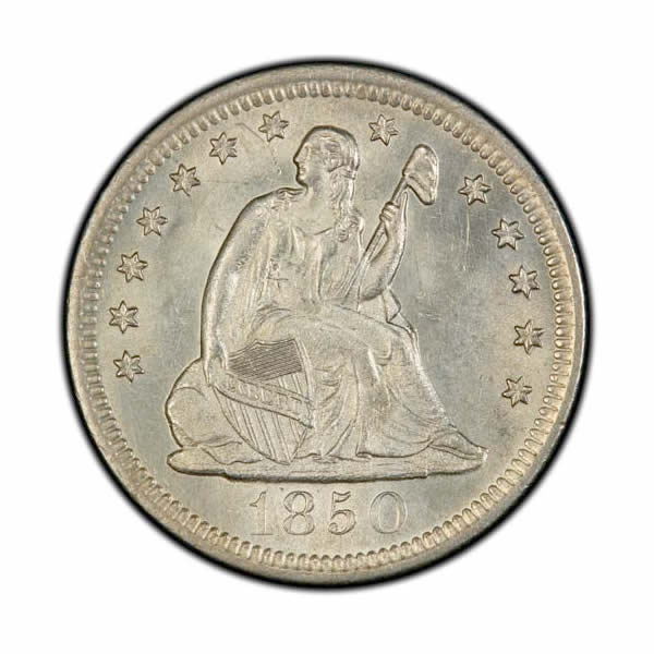 Seated Liberty Quarters Uncirculated