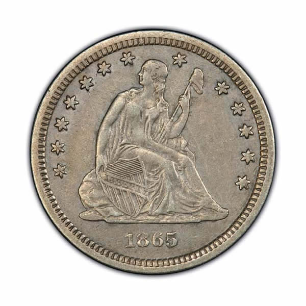 Seated Liberty Quarters Extra Fine