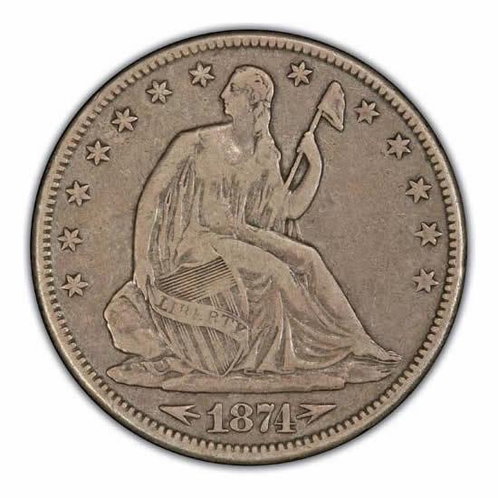Seated Liberty Half Dollars Very Fine