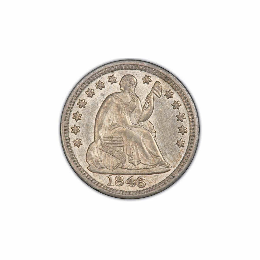 Seated Liberty Half Dimes Uncirculated and Certified