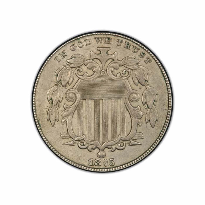 Shield Nickels Almost Uncirculated