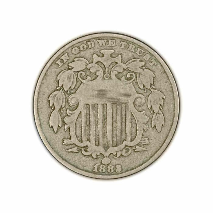 Shield Nickels Very Fine