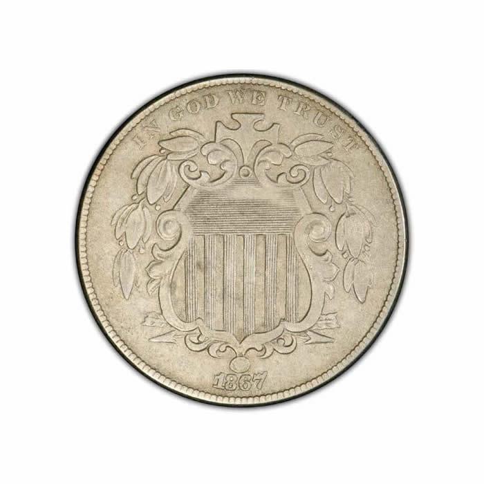 Shield Nickels Extra Fine