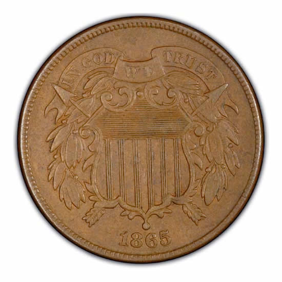 Two Cent Pieces Almost Uncirculated