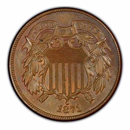 Two Cent Pieces Uncirculated