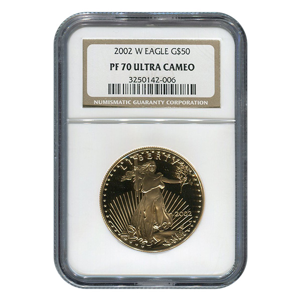 One Ounce Certified Proof Gold Eagles