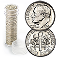 Uncirculated and Proof Roosevelt Dime Rolls