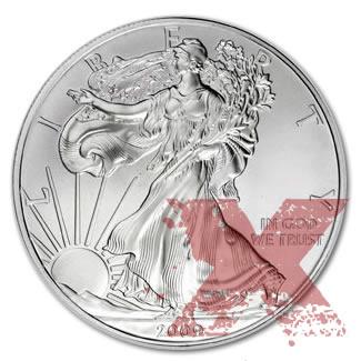 Circulated Silver Eagle (Random Year)