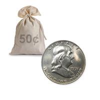 90% Silver Franklin Halves AU 100 pcs.