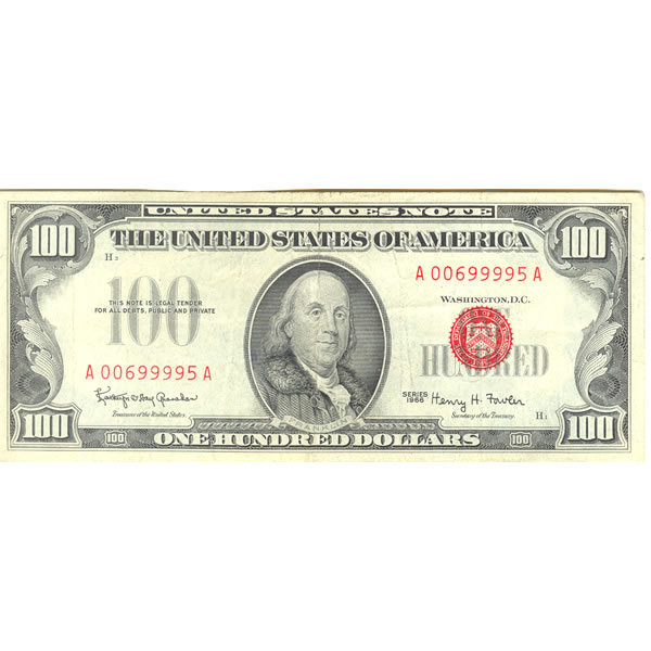 1966 $100 United States Note XF