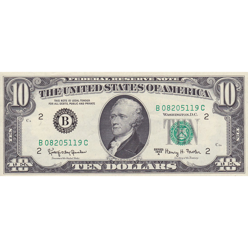 1963A $10 Federal Reserve Note UNC