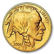 Uncirculated Gold Buffalo Coin One Ounce 2006