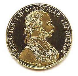 Austria 4 Ducat Gold Coin