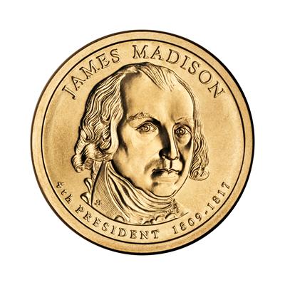 Presidential Dollars James Madison 2007-P 25 pcs (Roll)