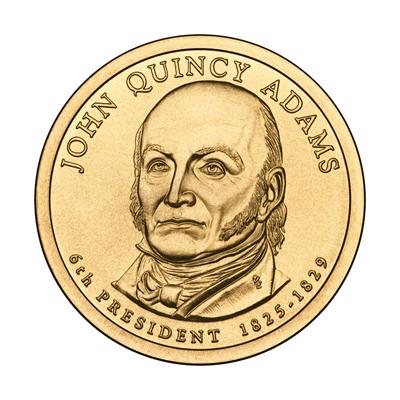 Presidential Dollars John Quincy Adams 2008-D 25 pcs (Roll)