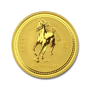 2002 Australia 1 oz Gold Lunar Horse