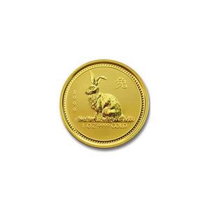 1999 Australia 1/20 oz Gold Lunar Rabbit