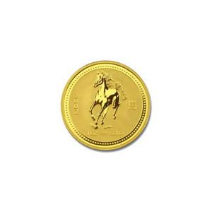 2002 Australia 1/20 oz Gold Lunar Horse