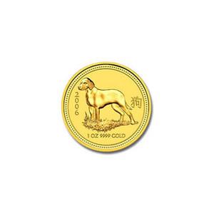 2006 Australia 1/20 oz Gold Lunar Dog