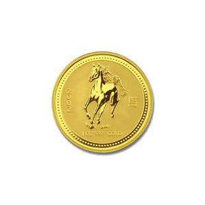 2002 Australia 1/10 oz Gold Lunar Horse