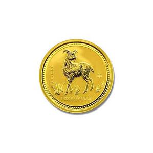 2003 Australia 1/10 oz Gold Lunar Goat