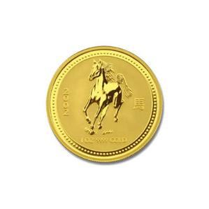 2002 Australia 1/4 oz Gold Lunar Horse