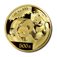 Chinese Gold Panda 1 Ounce Gold Coin (Date Our Choice) (Out of plastic)