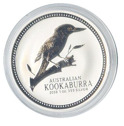 Australian Kookaburra 1 oz. Silver 2003