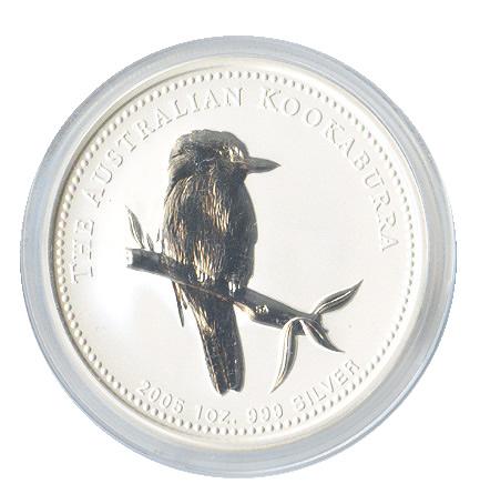Australian Kookaburra 1 oz. Silver 2005