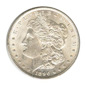 Morgan Silver Dollar Uncirculated 1896