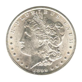 Morgan Silver Dollar Uncirculated 1899-O
