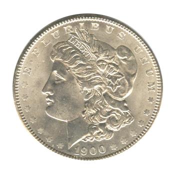 Morgan Silver Dollar Uncirculated 1900-O