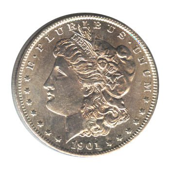 Morgan Silver Dollar Uncirculated 1901-O