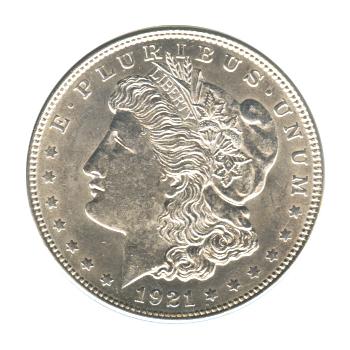 Morgan Silver Dollar Uncirculated 1921-D