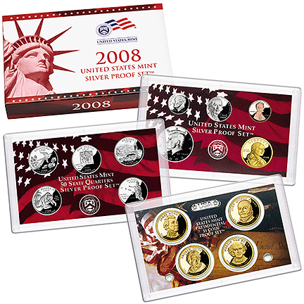 US Proof Set 2008 Silver