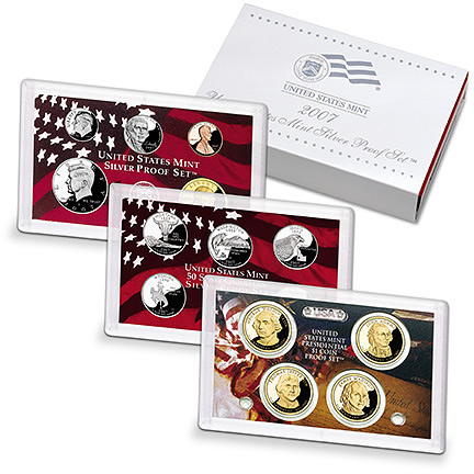 US Proof Set 2007 Silver