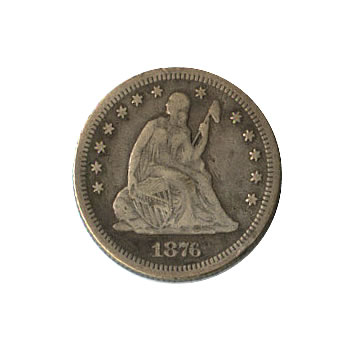 Early Type Seated Liberty Quarter 1838-1891 Good
