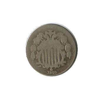 Early Type Shield Nickel 1866-1883 Good
