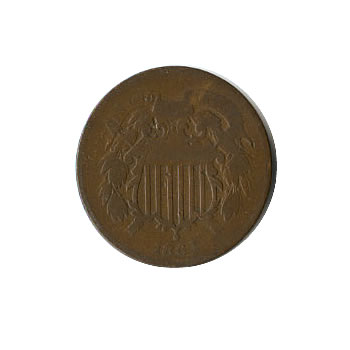 Early Type Two Cent Piece 1864-1873 G-VG